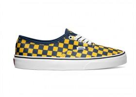 Vans Classics Authentic Golden Coast in Dress Blues/Yellow Checker