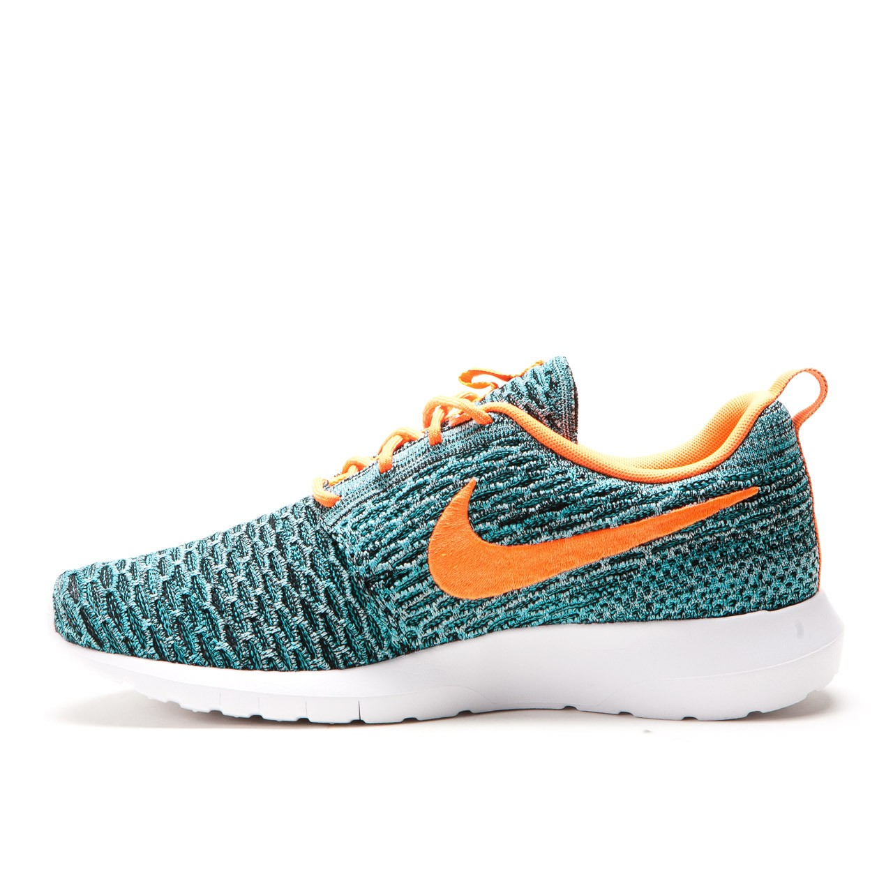 nike roshe flyknit run total orange hyper jade. Black Bedroom Furniture Sets. Home Design Ideas