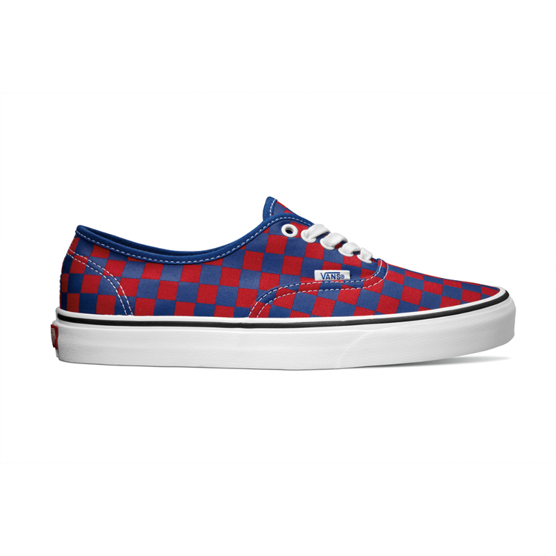 Vans Classics Authentic Golden Coast in blue_red checker_smal