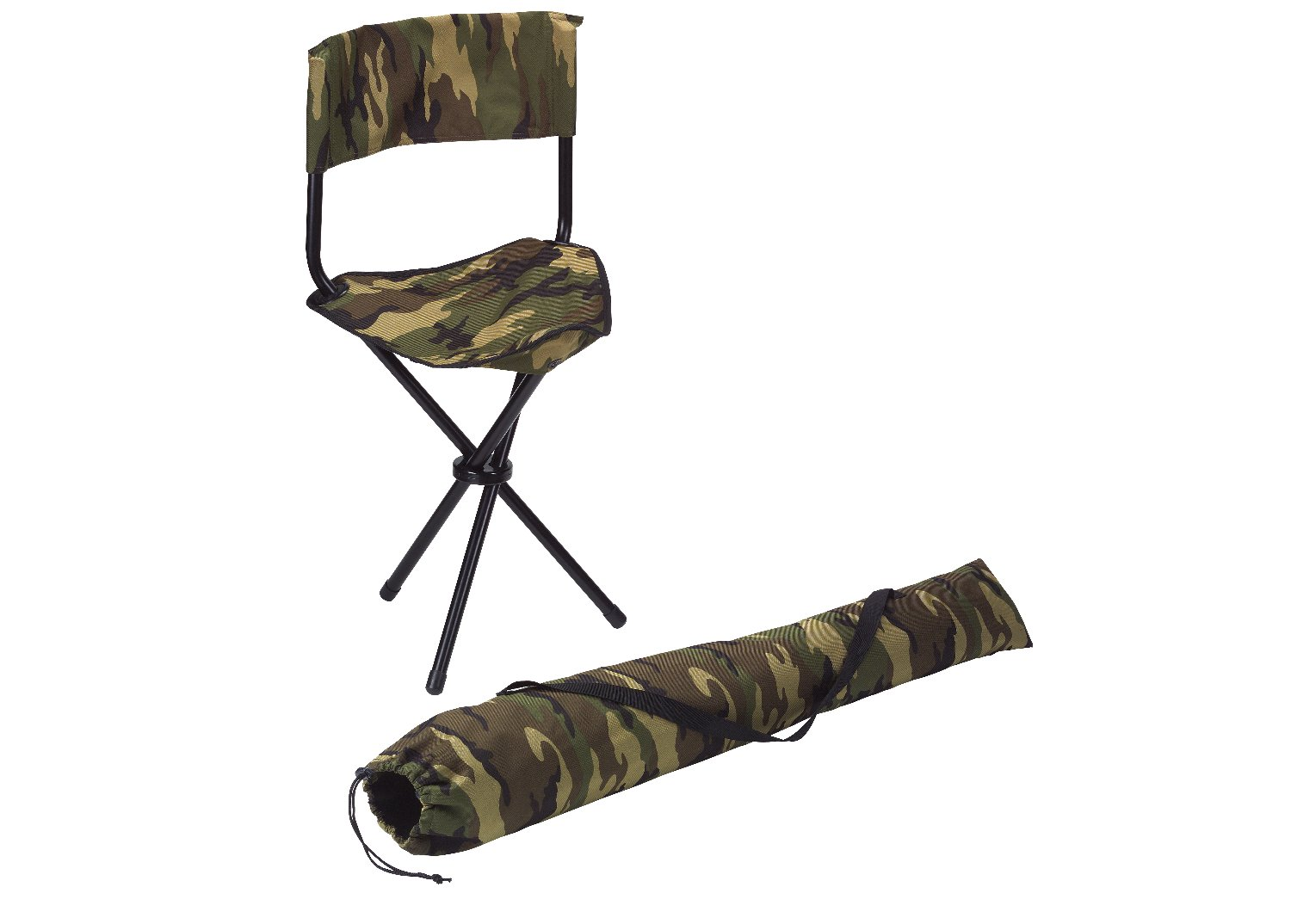 source: Woodland Camouflage Military Deluxe Collapsible Stool