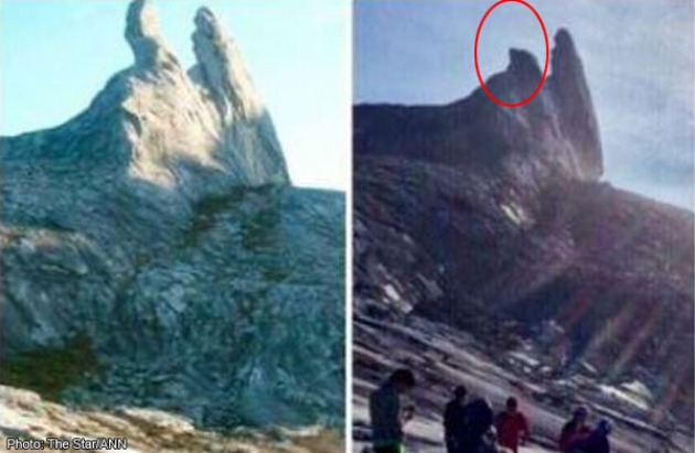 source: http://news.asiaone.com/news/malaysia/sabah-tremors-donkeys-ear-peak-mount-kinabalu-destroyed