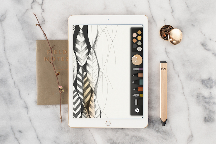 FiftyThree_Gold_Pencil_withPaper2