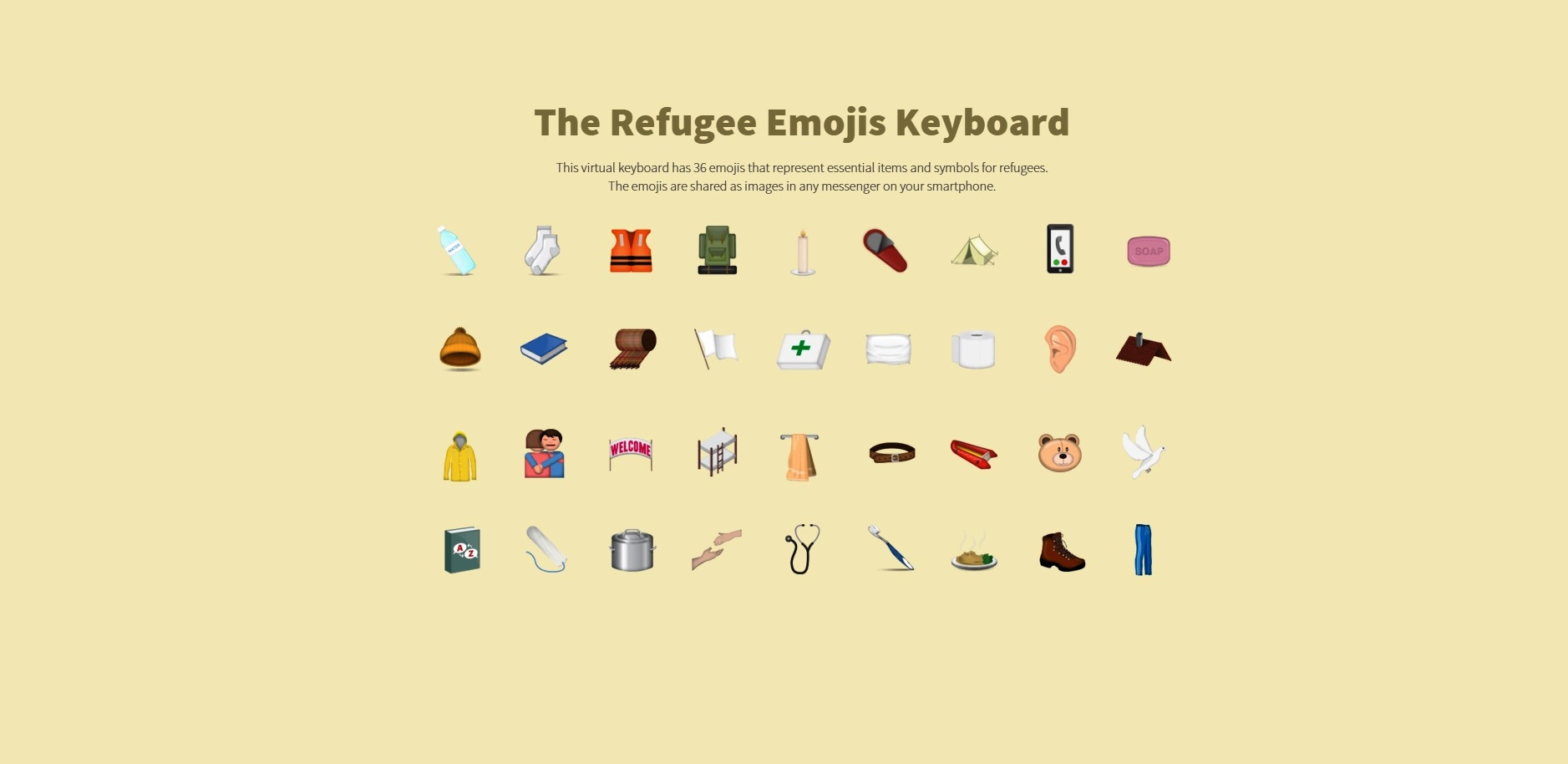 Refugee Emojis By Doctors Without Borders
